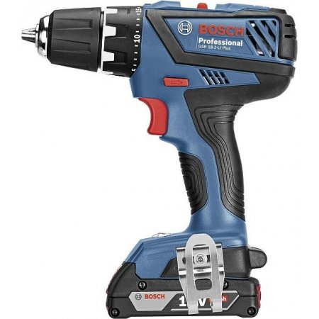 Aku vrtačka s příklepem Bosch GSB 18-2-LI Plus Professional, 2 x 2,0Ah 06019E7120